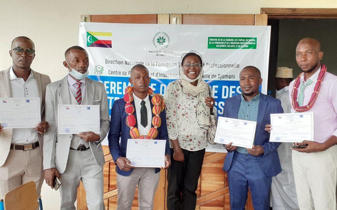 Formation professionnelle: Rémise de Diplôme de la 3ème promotion du CFIP de Djomani